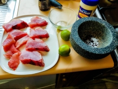 Lime peppered Albacore Tuna ingredients